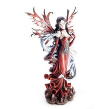 Load image into Gallery viewer, Large Red Fairy Figurine With Dragon