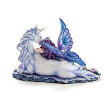 Load image into Gallery viewer, Aqua Fairy sleeping on a Unicorn