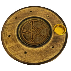 Pentacle 10cm Round Incense Burner