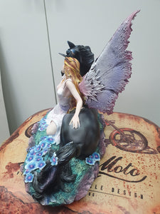 Fairy with Black Unicorn