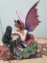 Load image into Gallery viewer, Sitting Flower Fairy w/ Rabbit