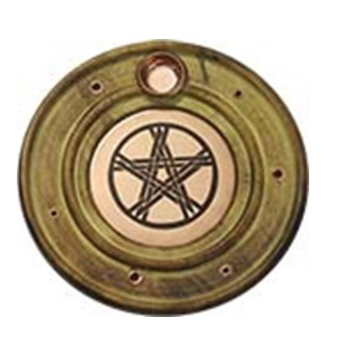 Pentacle Copper Wood Incense Burner