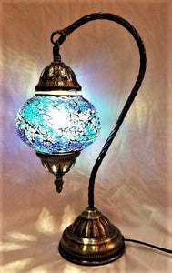 Turkish Mosaic Lamp- Swan Neck
