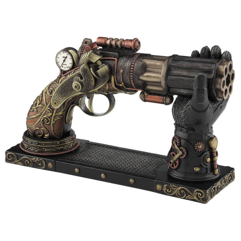 Steampunk Pistol with Gauntlet Display Stand