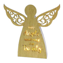 Load image into Gallery viewer, Woodcraft Starlight Angel LED Plaque