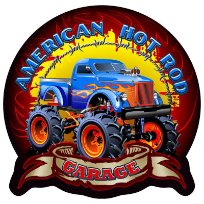 Off Road Hot Rod Wall Plaque