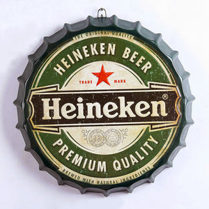 Heineken Beer Bottle Top Sign