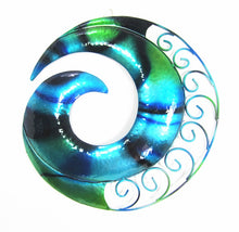 Load image into Gallery viewer, Koru - Blue -Metal Wall Hanging