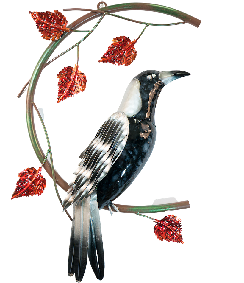 Magpie on a Branch - Wall hanging