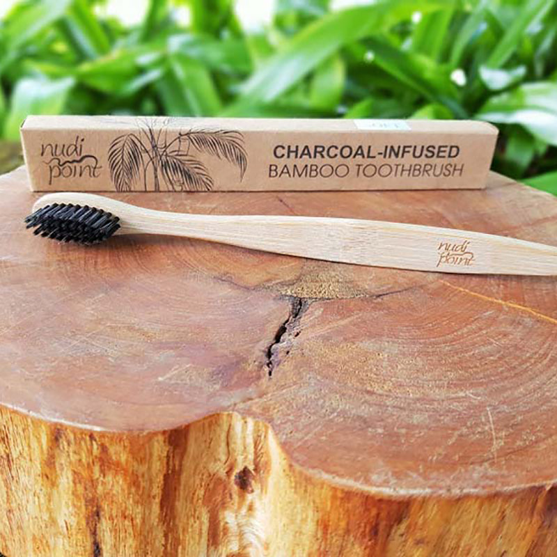 Charcoal-Infused 100% Bio-degradable Bamboo Toothbrush