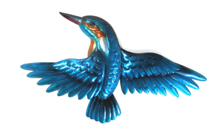 Kingfisher in Flight - Metal Wall Hanging