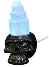 Load image into Gallery viewer, Selenite Skull USB L/Up
