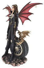 Load image into Gallery viewer, Gothic Fairy Biker with Pet Dragon