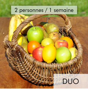 Panier 100% fruits - Duo