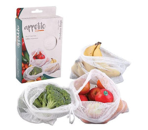 3pk Woven Net Produce Bags - Homewares