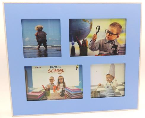 Blue/Pink Collage Frames - Blue - Wall art