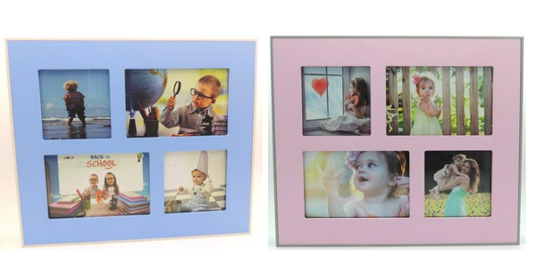 Blue/Pink Collage Frames - Wall art