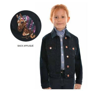 Girls Angel Denim Jacket - Jacket