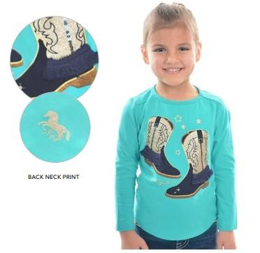 Girls Laura L/S Top - Shirt