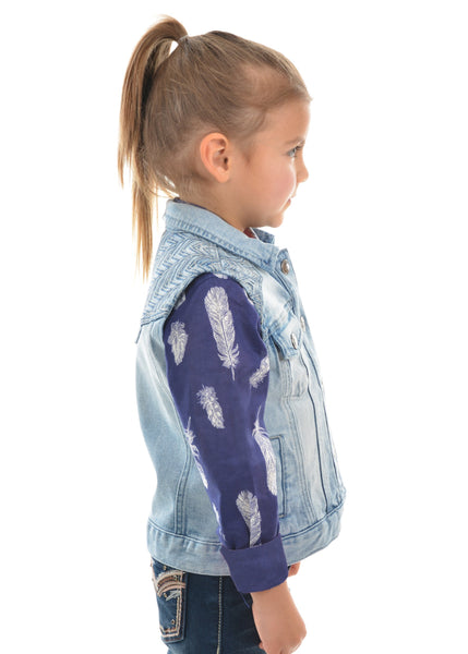 Girls Valerie Denim Vest - Jumpers