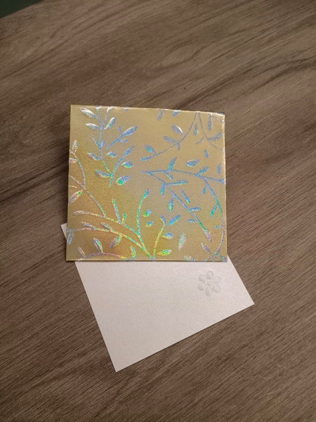 Include a Personalised Gift Card - Gold - Cards