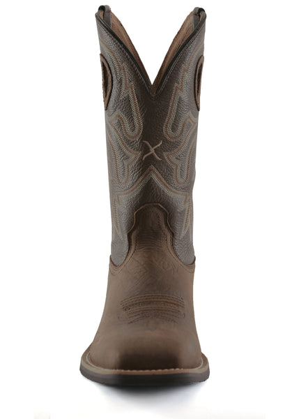 Mens Top Hand Boots - Taupe/Brown - Mens Shoes