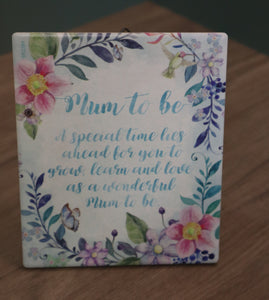 Plaques with Verses - Fleur Collection - Mum to be - Gifts
