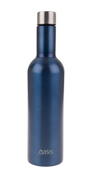 Wine Traveller Bottle Double Insulated - Saphire - Homewares
