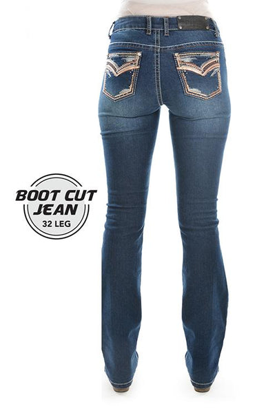 Womens Emma Boot Cut Jean - Indigo - Womens Pants
