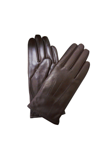Womens Leather Gloves - Black/Brown - Womens Accessories