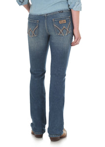 Womens Mae Retro Mid Rise B/Cut Jean - Indigo - Womens Pants