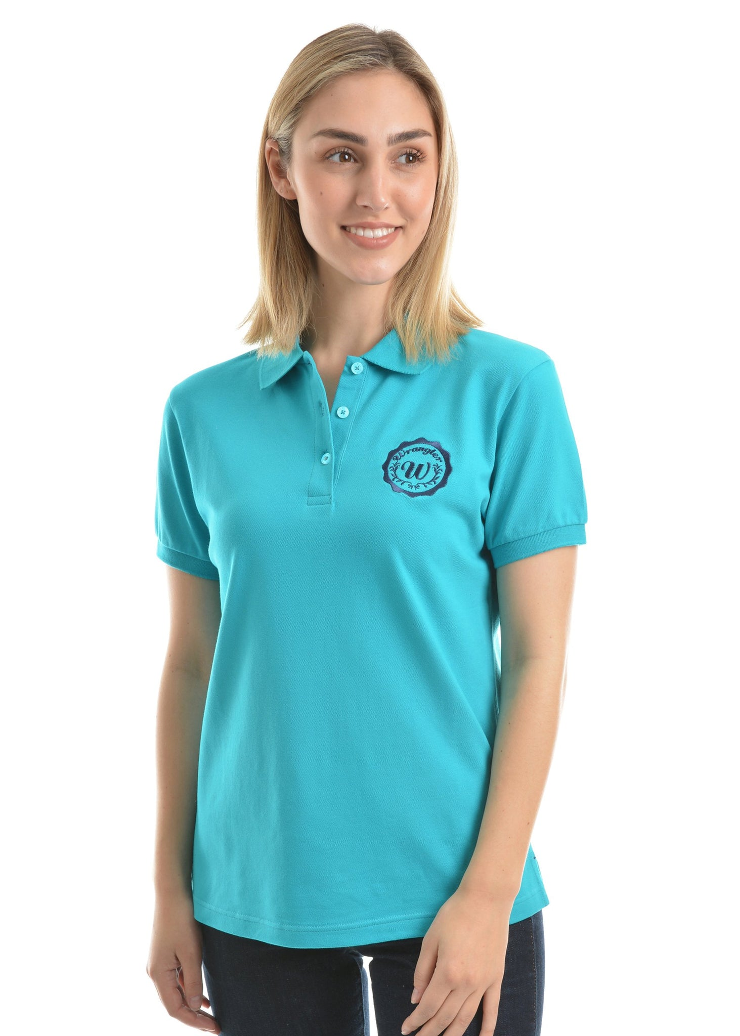 Womens Tina Polo - Teal - Womens shirt