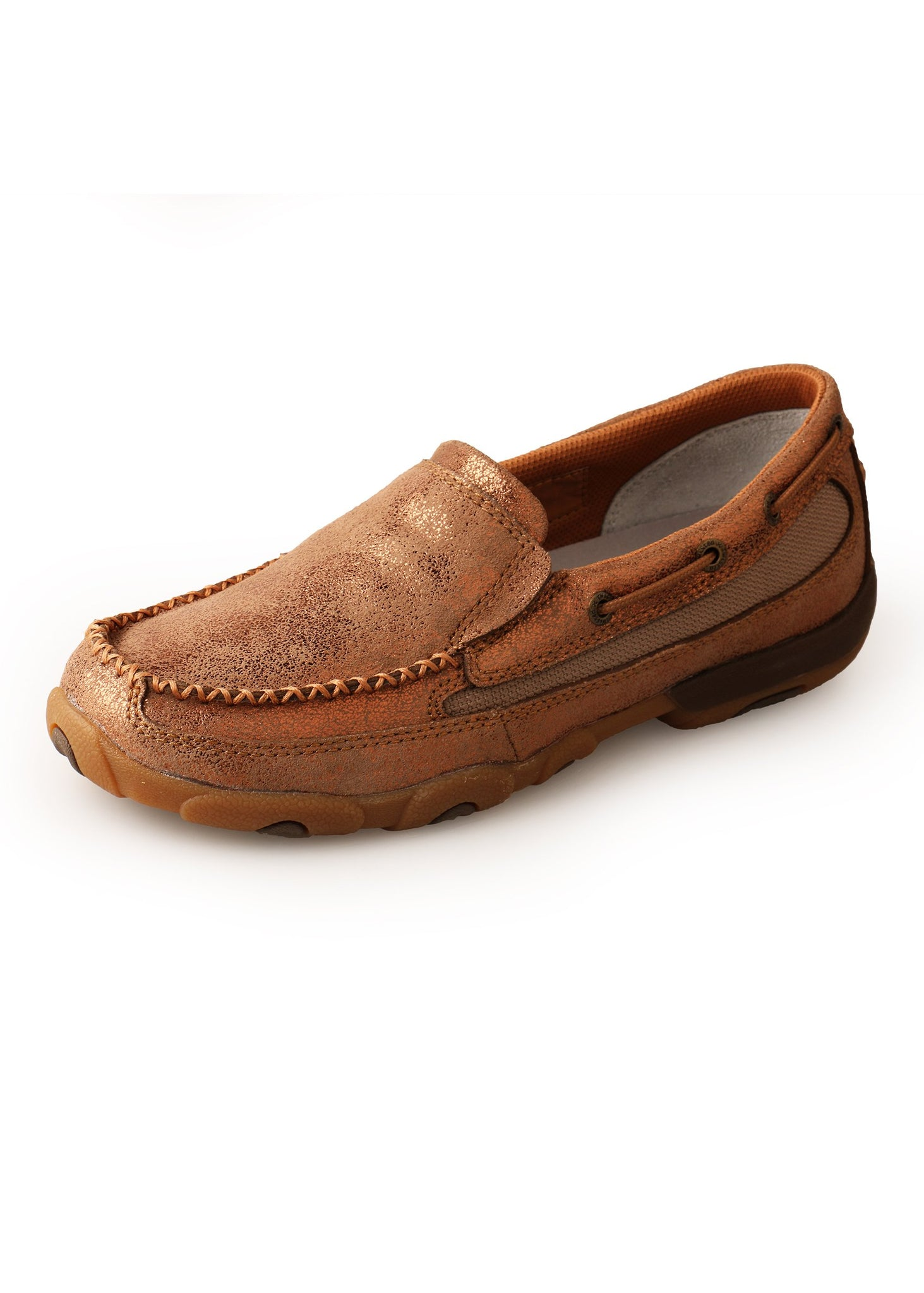 Womens Twisted X Slip On Mocs - Brown Lustre - Womens shoes