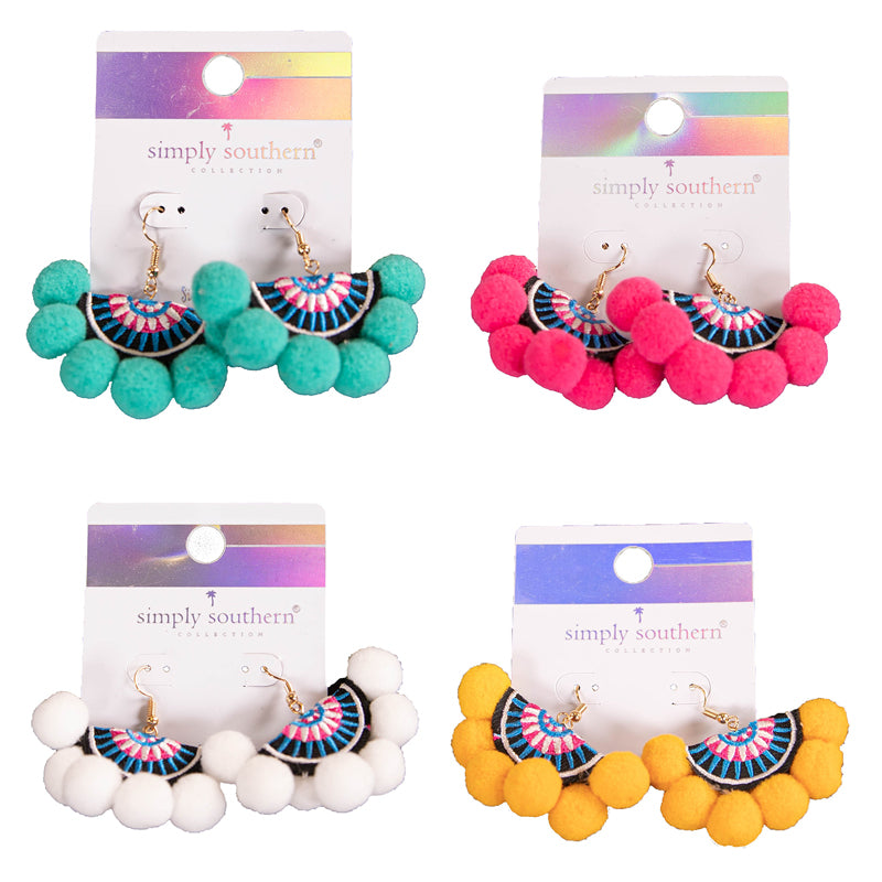 Simply Southern Pom Pom Earrings