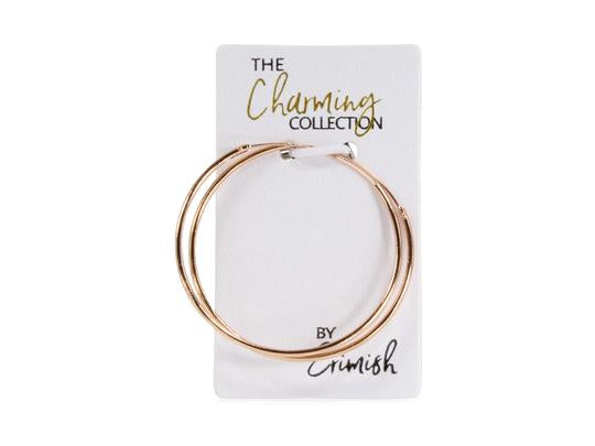 Charming Collection - Hoop Earrings Rose Gold