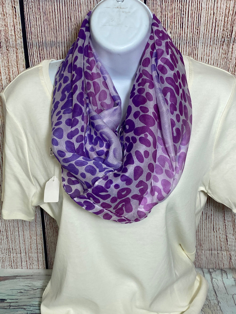 Lavender and Purple Infinity Scarf
