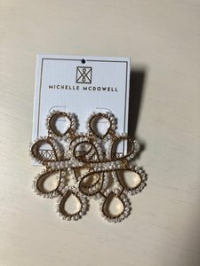 Elegant Gold and White Earrings (MM)
