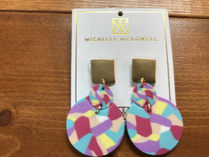 Multi Color Circle Earring (MM)