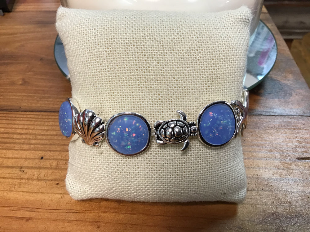 Blue and Silver Bracelet (Peri)