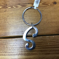Silver Letter S Key Chain