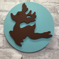 Home Sign Insert - Flying Rudolph