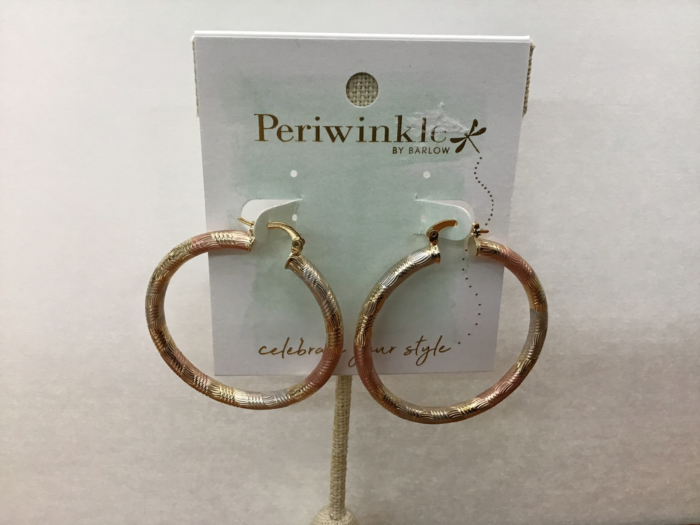 Rose gold Hoop Earrings (Peri)