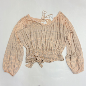 Free People Long Sleeve Top Size Medium