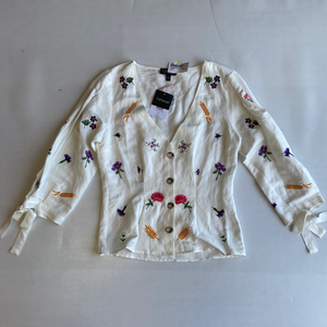 Topshop Long Sleeve Top Size Small