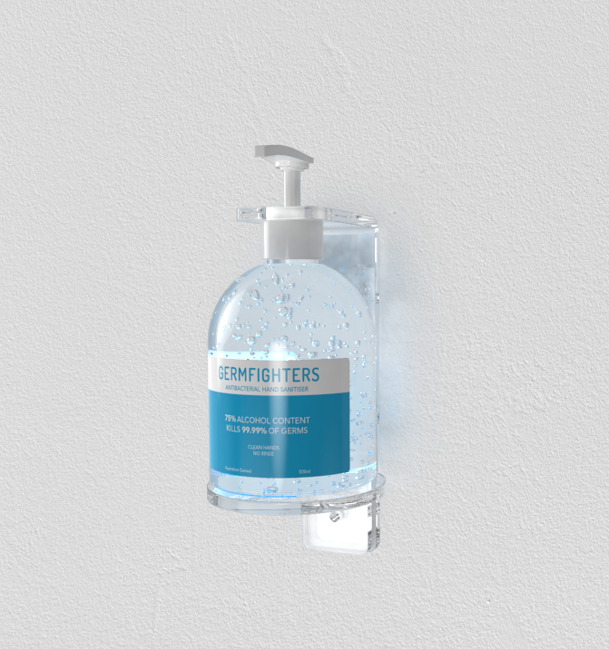Hand Sanitiser 500ml Bottle & Station