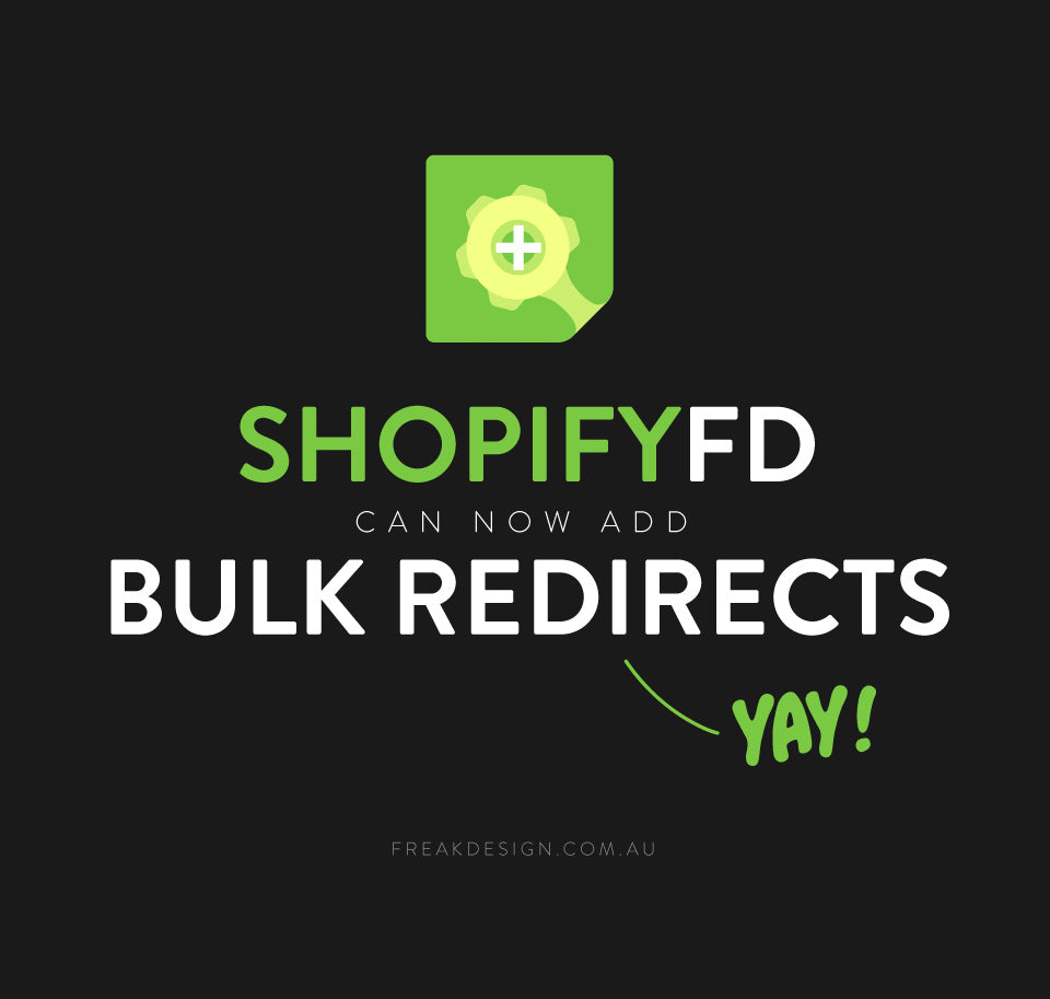 Add bulk url redirections to shopify with shopifyFD