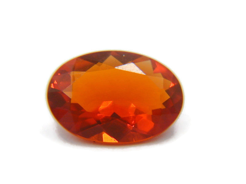 Natural Fire Opal Mexican Fire Opal October birthstone Fire Opal Gemstone Faceted Fire Opal Fire Loose Stone Oval 11x6 1.85 cts SKU:105168-opal-Planet Gemstones