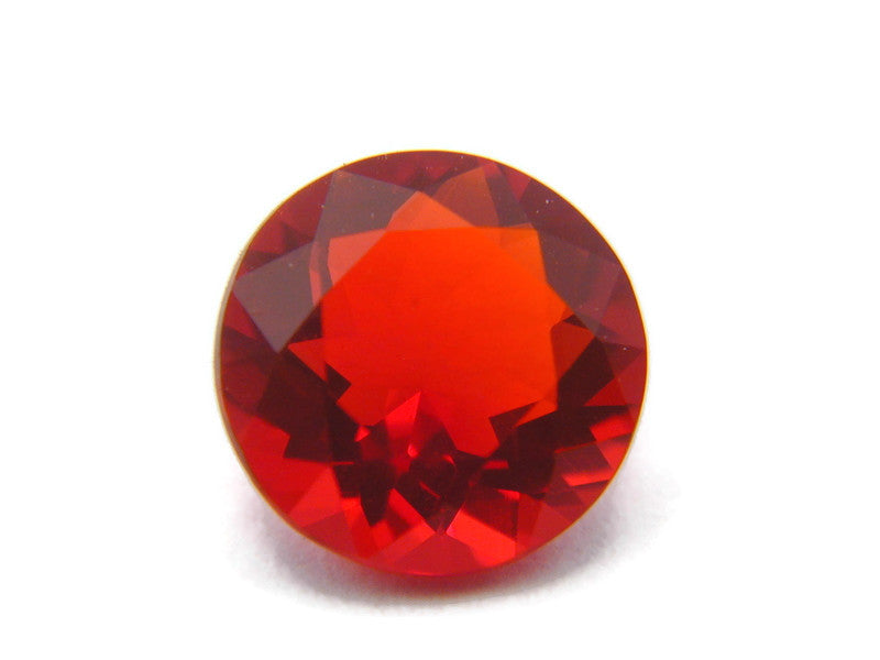 Natural Fire Opal Mexican Fire Opal October birthstone Fire Opal Gemstone Faceted Fire Opal Fire Loose Stone Round 7mm 1.01 cts SKU:105183-opal-Planet Gemstones
