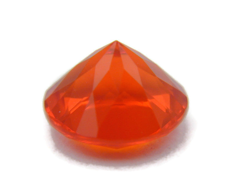 Natural Fire Opal Mexican Fire Opal October birthstone Fire Opal Gemstone Faceted Fire Opal Fire Loose Stone Round 7.1mm 0.93 cts SKU:105201-opal-Planet Gemstones