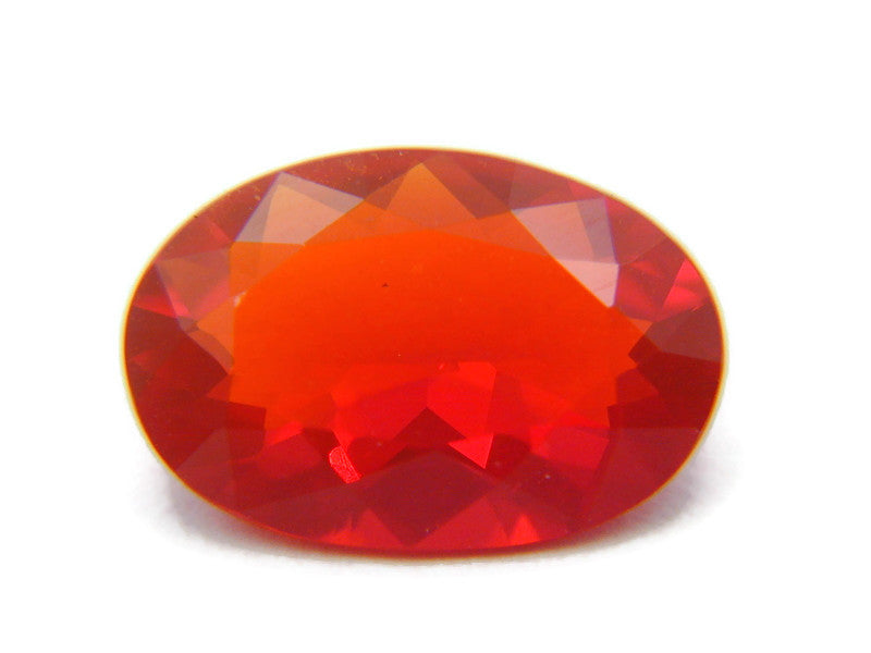 Natural Fire Opal Mexican Fire Opal October birthstone Fire Opal Gemstone Faceted Fire Opal Fire Loose Stone Oval 10x7mm 1.36 cts SKU:105203-opal-Planet Gemstones